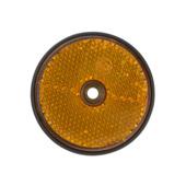Zij-reflector rond 60mm geel