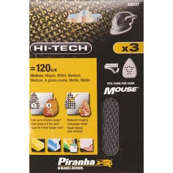 Piranha schuurgaas X39127-XJ K120 (3 stuks) voor B&D Mouse en Bosch PSM primo