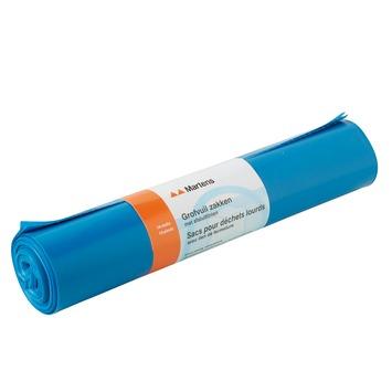 Martens grofvuilzak blauw, 70x117 cm, 10 stuks