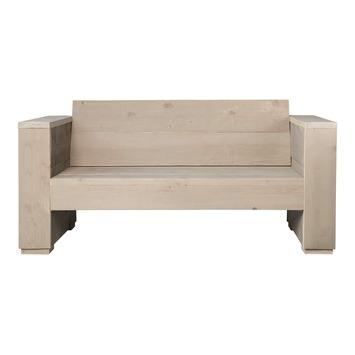 Loungebank Marlind 2-zits zand steigerhout 73x150x77 cm
