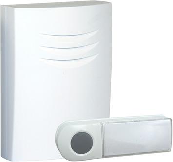 Byron deurbelset B401E draadloos wit