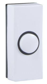 Byron drukknop deurbel wit