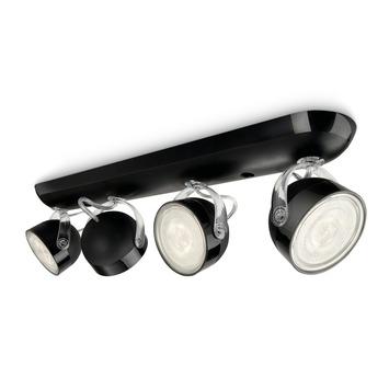 Philips Opbouwspot MyLiving Dyna LED Zwart 4 x 3W