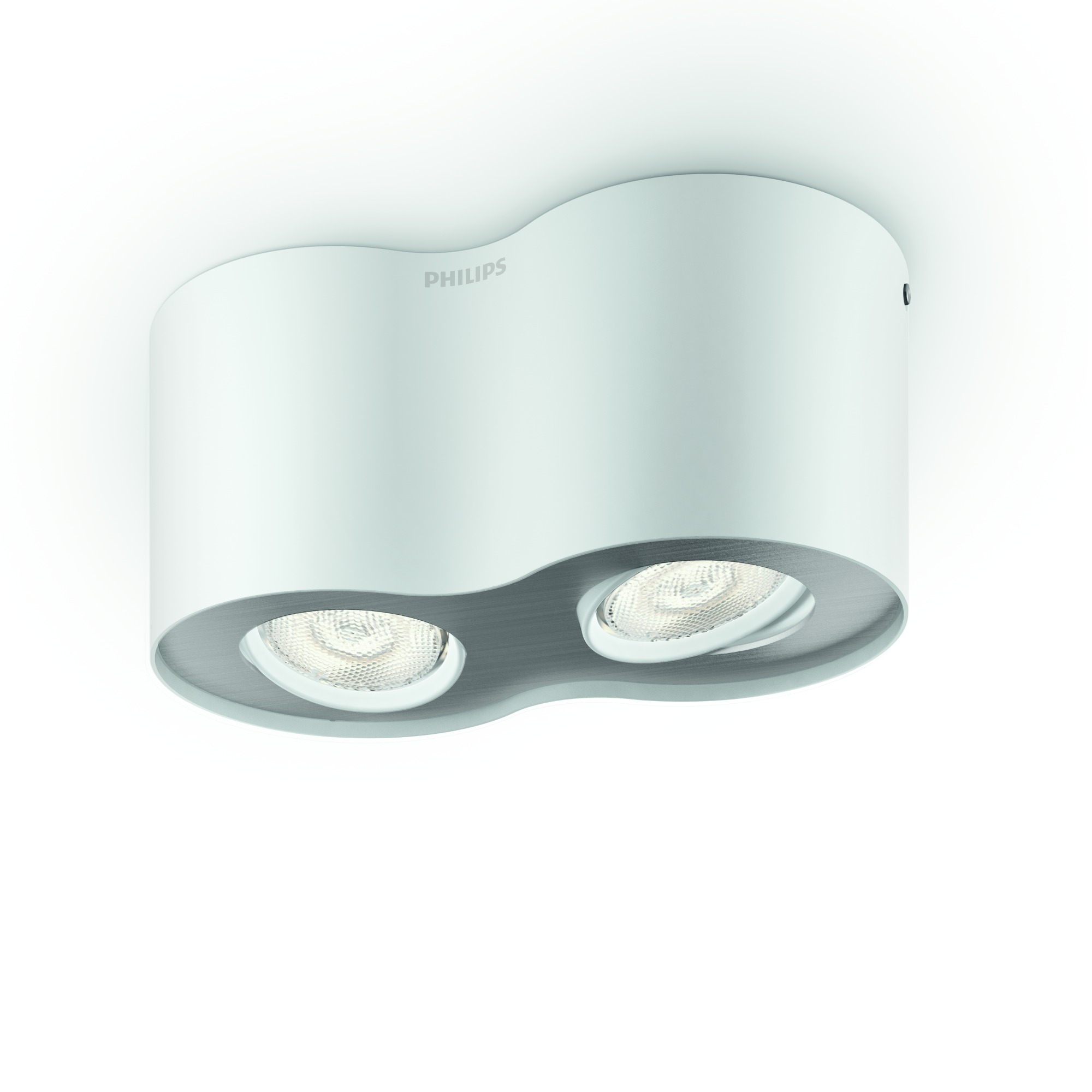 Tweelamps LED-spot Phase in wit