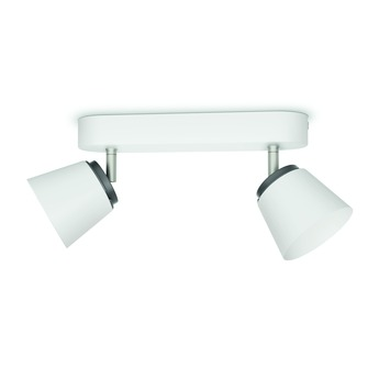 Philips duospot Dender wit - Incl 2X LED 4W