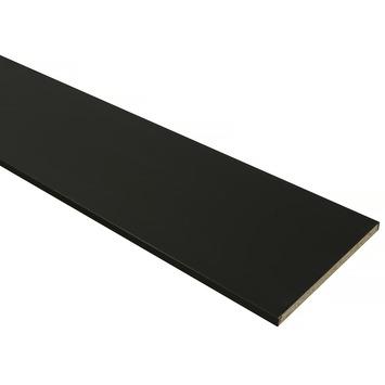 Meubelpaneel ABS zwart 240x40 cm dikte 18 mm