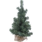 Kunstkerstboom met jute voet 60 cm