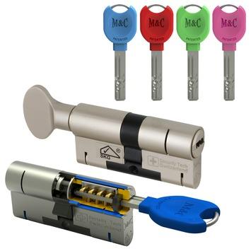 M&C veiligheidscilinderset 32/32 mm SKG 3-sterren gelijksluitend (2 stuks)