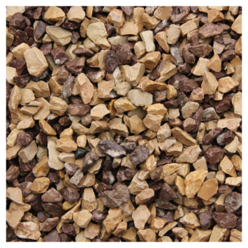 Split Grind Cappuccino Geel/Bruin 8-16 mm - Per Zak á 20 kg