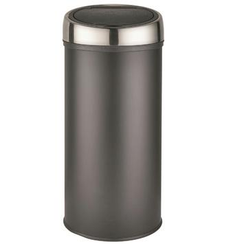 Zwart Rvs Prullenbak.Prullenbak Push Can 30 Liter Mat Zwart Kopen Karwei
