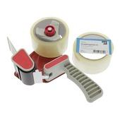 KARWEI verpakkingstape 50mx48mm (2 stuks) + dispenser