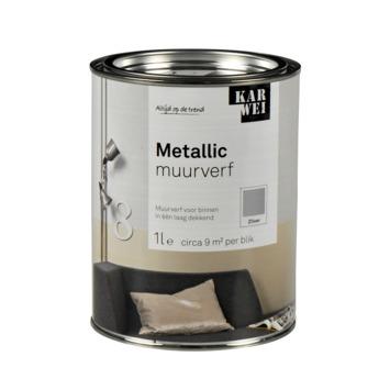 KARWEI muurverf hoogglans metallic zilver 1 l