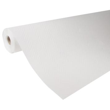 Glasweefselbehang voorgeschilderd visgraat wit 165 gram - 25 m (dessin GW502-25)