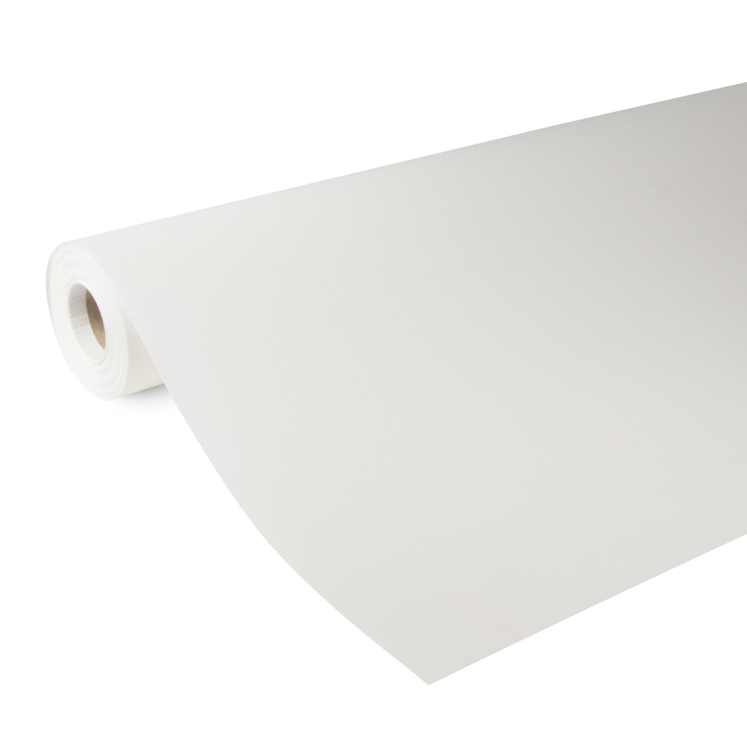 Glasweefselbehang ruit fijn voorgeschilderd wit 25 m (dessin GW102-25)