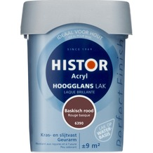 Histor Perfect Finish lak waterbasis hoogglans baskisch rood 750 ml