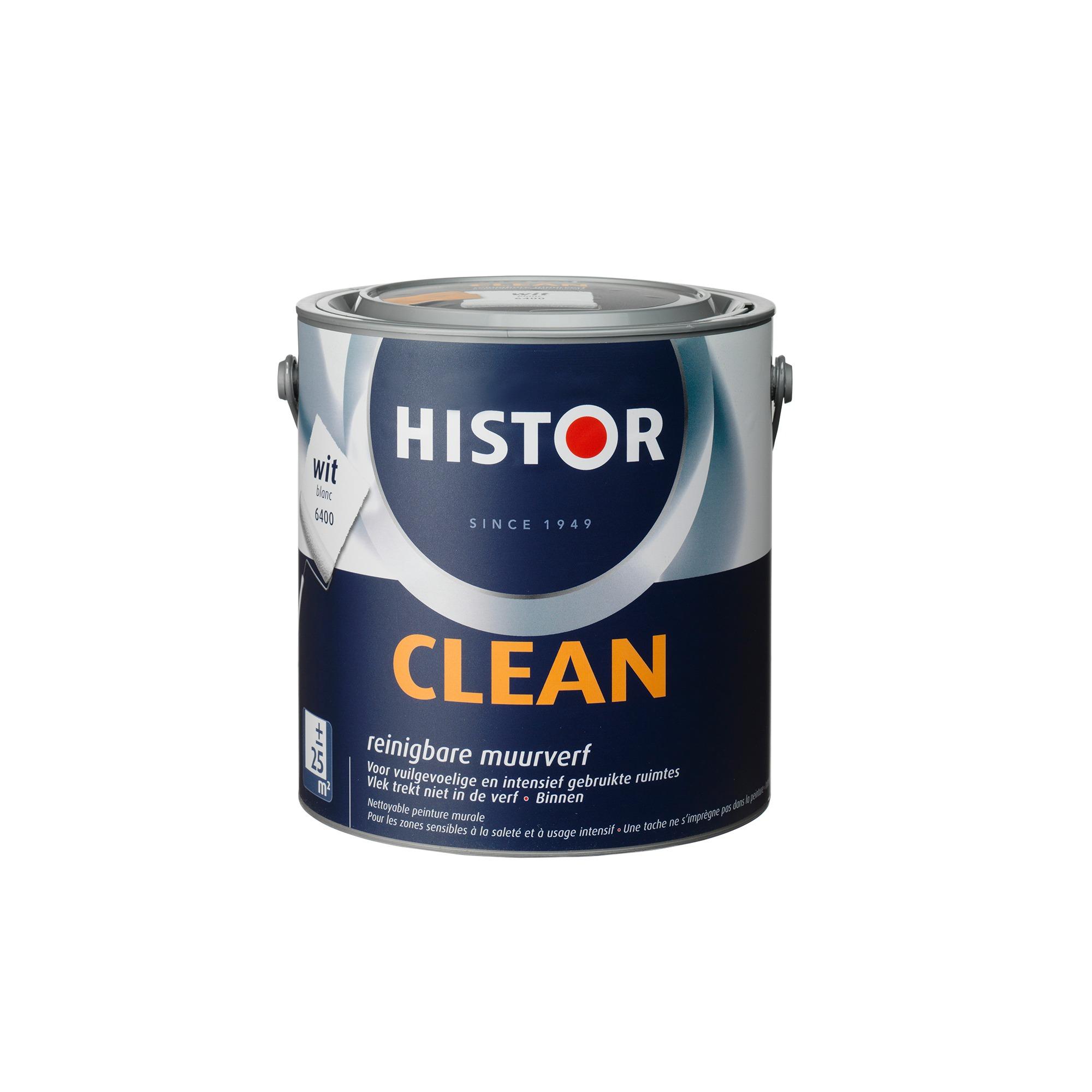 Histor Clean Muurverf Wit 2,5 l
