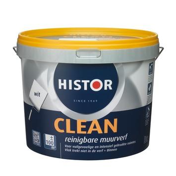 Histor Clean muurverf mat wit 10 l