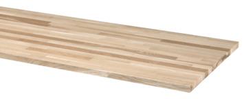 Werkblad eiken 250x61 cm 26 mm