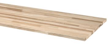 Werkblad eiken 126x61 cm 26 mm