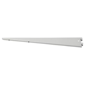 Handson plankdrager dubbel mat zilver 37 cm