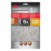 3M Sandblaster schuurpapier flexibel K220 fijn 2 stuks