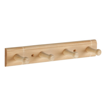 Kapstok Henk 4 haaks hout 300mm