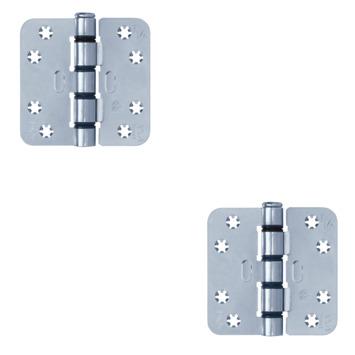 AXA schijflagerscharnier 89x89 mm Easyfix verzinkt - 2 stuks