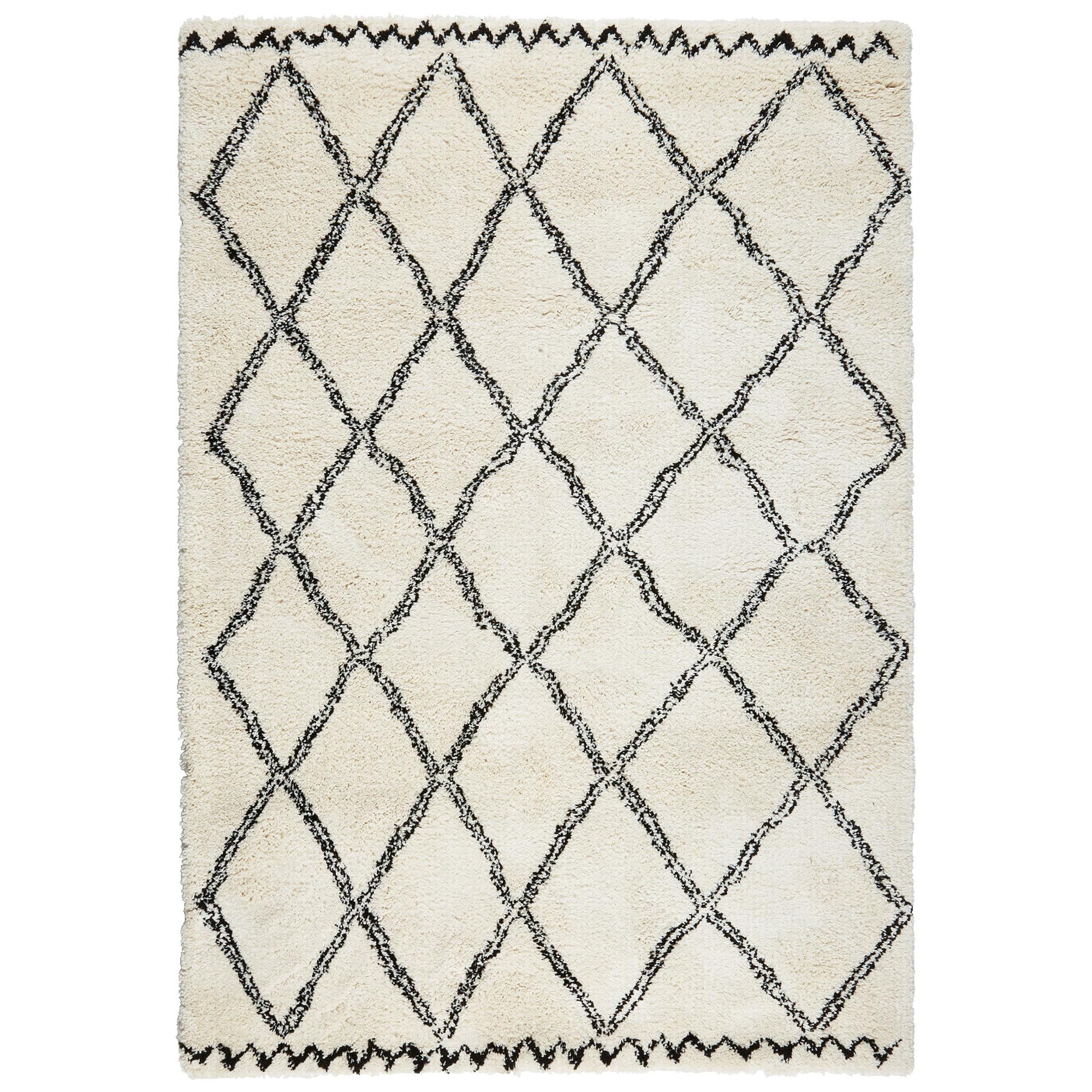 Vloerkleed Varamin Zwart/wit 160x230 cm
