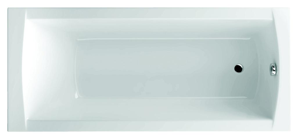 Sealskin Get Wet Trend Bad rechthoek 170x75cm wit