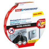 Tesa Powerbond montagetape ultra sterk 5mx19mm