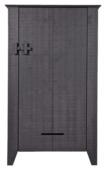 WOOOD boerenkast Gijs, zwart, 142x85x38 cm