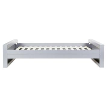 WOOOD bed Dennis grenen betongrijs 53x101x219 cm