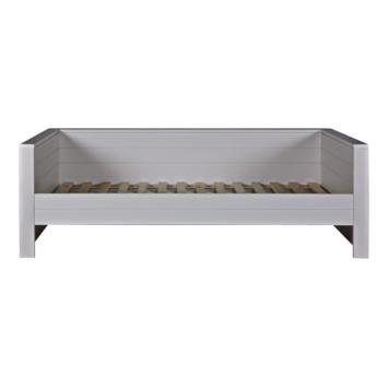 WOOOD bedbank Dennis grenen betongrijs 73x101x219 cm