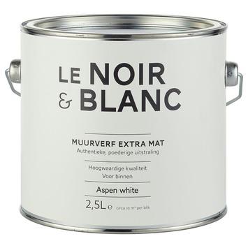 Le Noir & Blanc muurverf extra mat aspen white 2,5 l