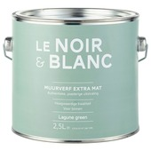 Le Noir & Blanc muurverf extra mat lagune green 2,5 l