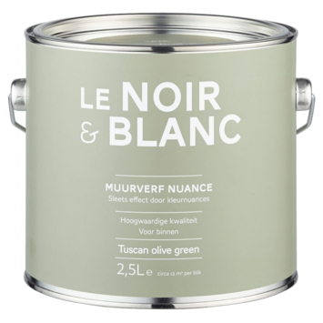 Le Noir & Blanc muurverf nuance tuscan olive green 2,5 l