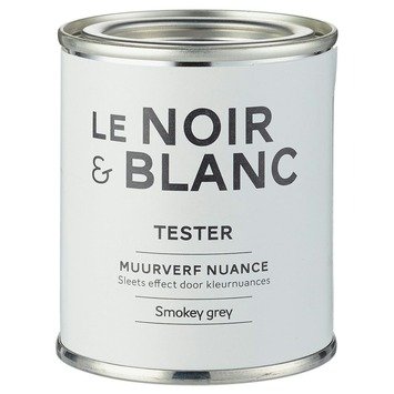 le noir blanc muurverf nuance smokey grey 100 ml kopen le noir blanc karwei. Black Bedroom Furniture Sets. Home Design Ideas