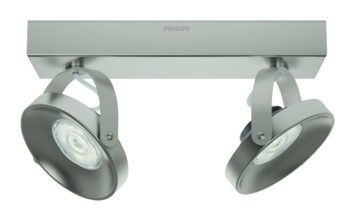 Philips duospot Spur - Incl 2X LED 4,5W WarmGlow dimbaar
