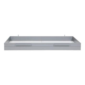 WOOOD opberg/matraslade Dennis grenen betongrijs 21x94x197 cm