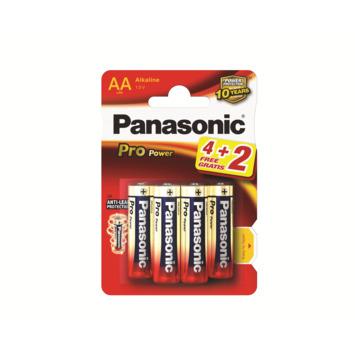 Panasonic Pro Power batterij AA 1,5V (4 stuks + 2 stuks extra)
