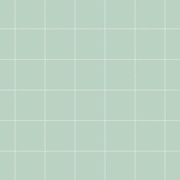 Vliesbehang ruit jade-wit (dessin 33-257)