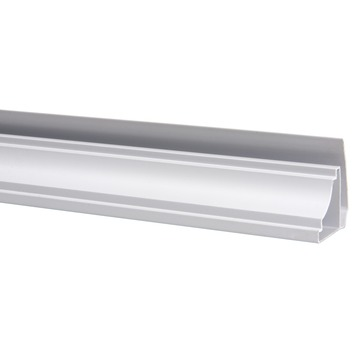 Plafondprofiel voor kunststof schroot, lengte 270 cm wit