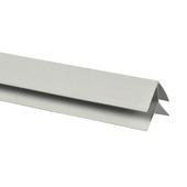 Buitenhoek voor kunststof schroot, lengte 270 cm wit