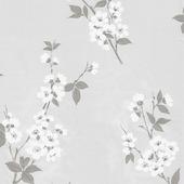 Vliesbehang handgetekende bloem (dessin 32-551)