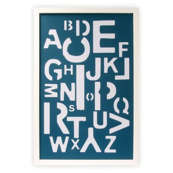 Print in frame - Alfabet 60x40 cm