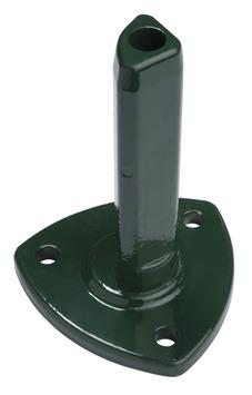 Conische voetstuk voor profielpaal 48x180 mm ral 6005 groen