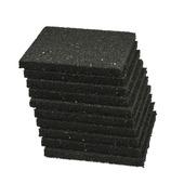 Aquaplan Tegeldrager Rubber Zwart 10x10 cm - 10 stuks