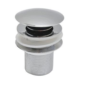 "Sanivesk click afvoerplug (H) 12,2 cm rond zonder overloop chroom 5/4"""