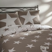 Dekbedovertrek Stars beige 200 x 200/220 cm