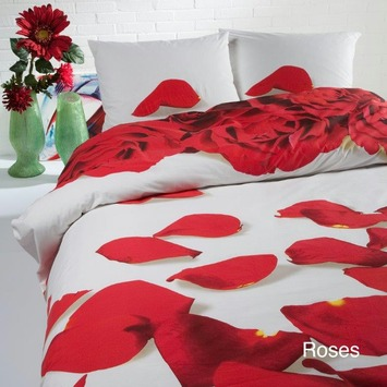 Dekbedovertrek Roses 200 x 200/220 cm